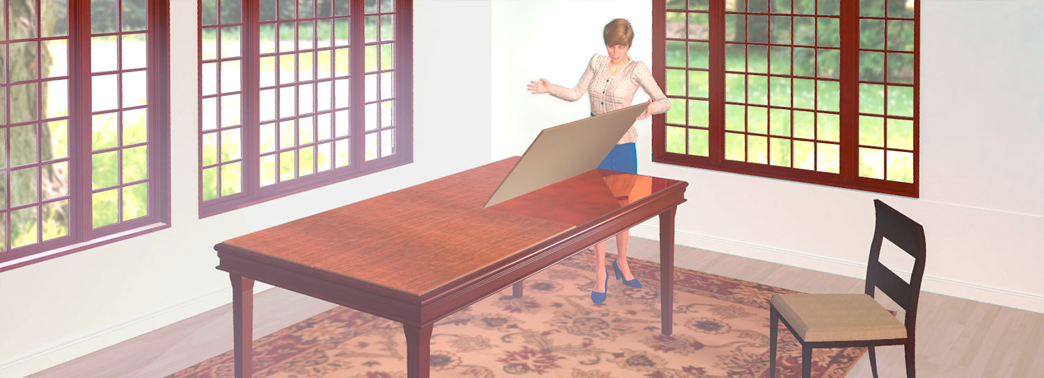 table pad summer image - Protective Table Pads Dining Room Tables