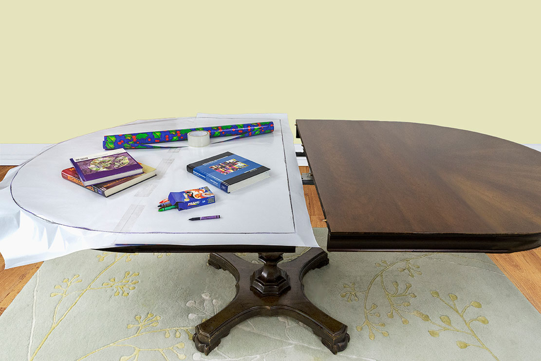 Pattern Instructions Table Pads Superior Table Pad - Oval table pad