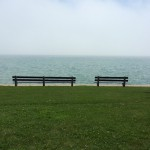Benches along Chicago's Lakefront