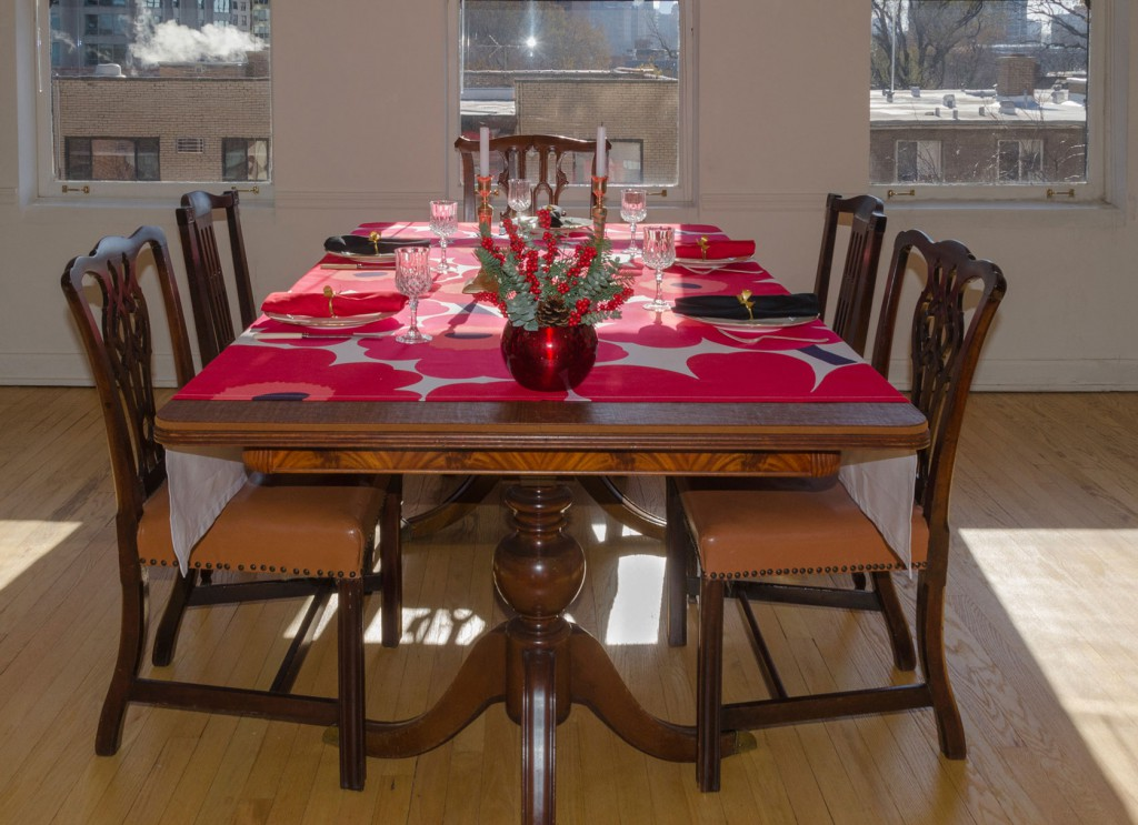 Christmas table with Table Pads