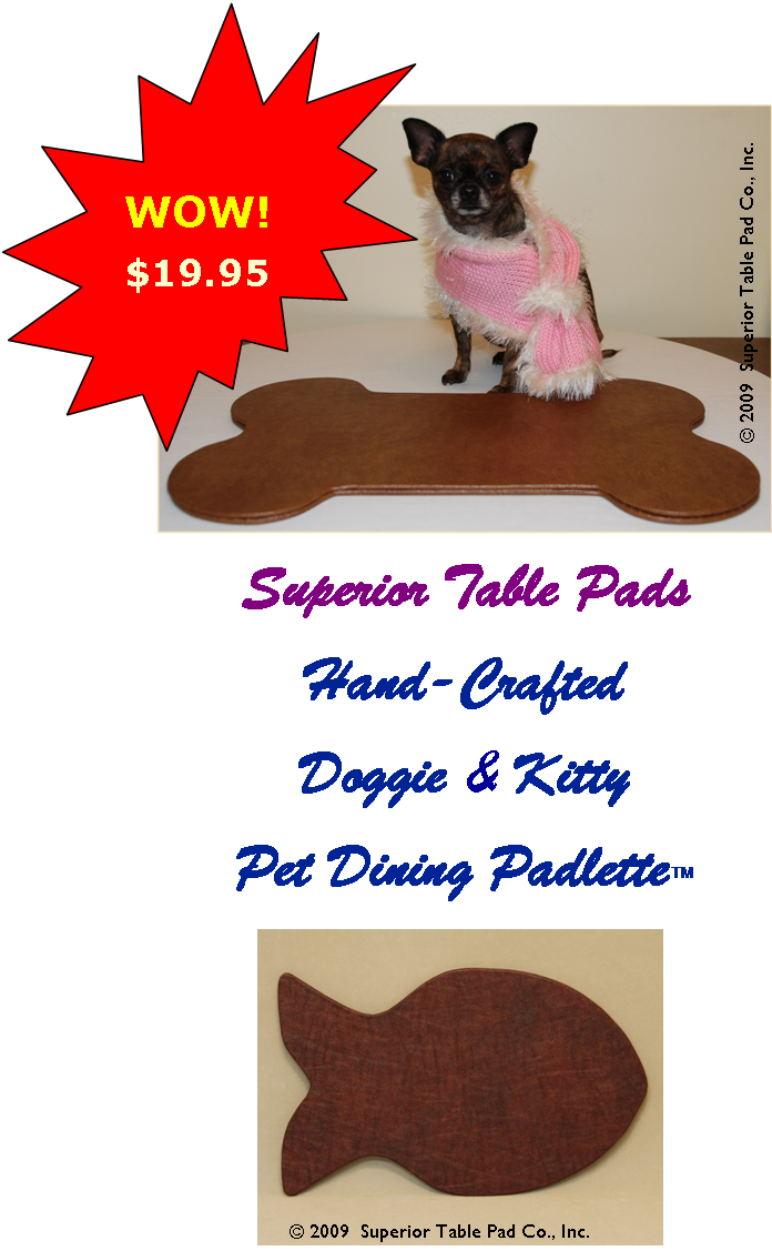 Pet Padlettes Superior Table Pad - Table pads chicago